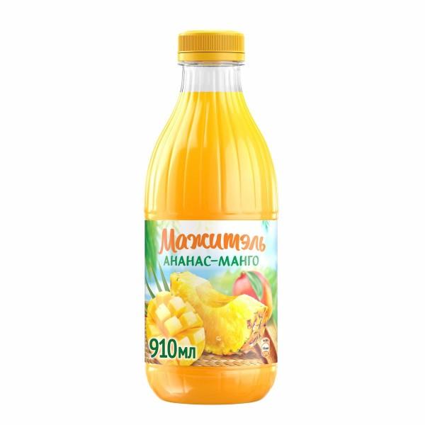 Напиток сывороточно-молочный с соком Мажитэль 0% 950гр ананас-манго БЗМЖ