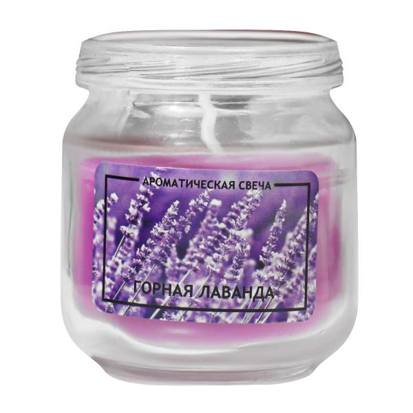 Свеча ароматическая в банке Горная лаванда