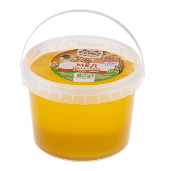 Мед натуральный Цветочный Семья довольна 1000гр