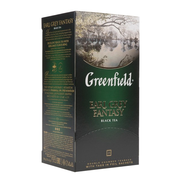 Чай черный Greenfield Earl Grey Fantasy 25пак