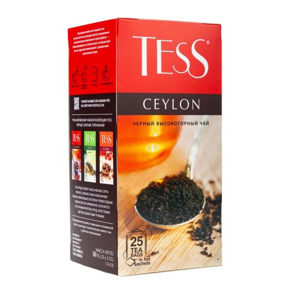 Чай черный Tess Ceylon 25пак
