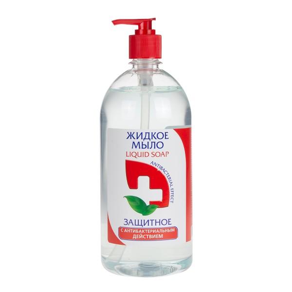 Мыло жидкое Красная линия Защитное 1л антибактериальный эффект