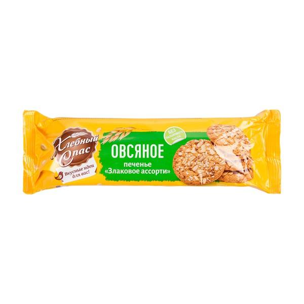 Печенье овсяное Злаковое ассорти Хлебный Спас 250гр