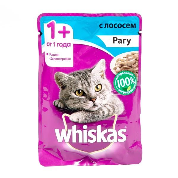 Корм для кошек Whiskas 85гр рагу с лососем