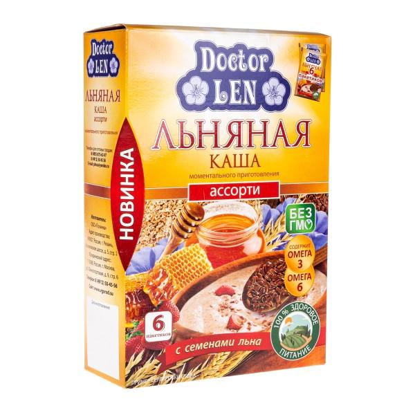 Каша льняная Doctor Len 6пакетиков ассорти