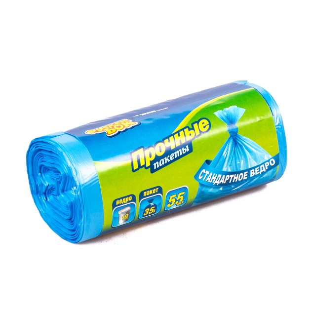 Пакеты для мусора Фрекен Бок прочные 35л 55шт