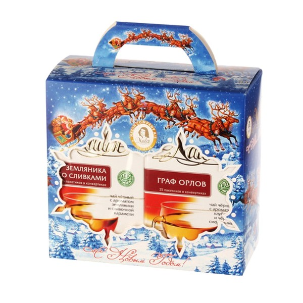 Набор чая подарочный Зимняя сказка Nadin 50 пакетиков