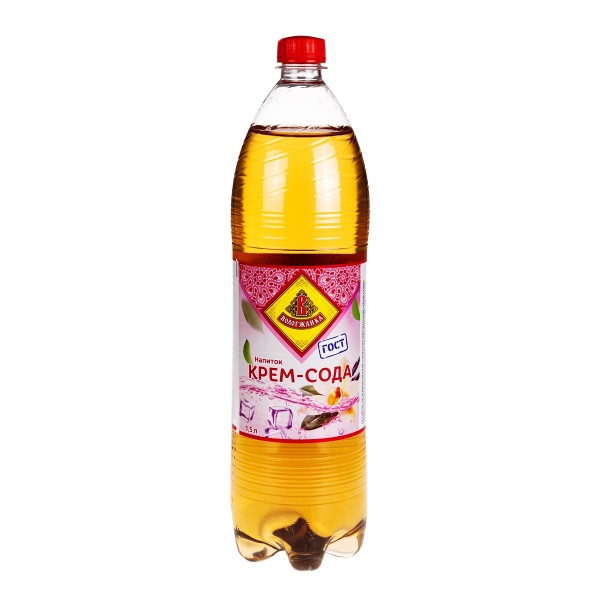 Напиток сильногазированный Крем-сода Вологжанка 1,5л