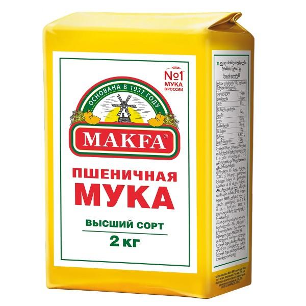Мука пшеничная в/с Makfa 2кг