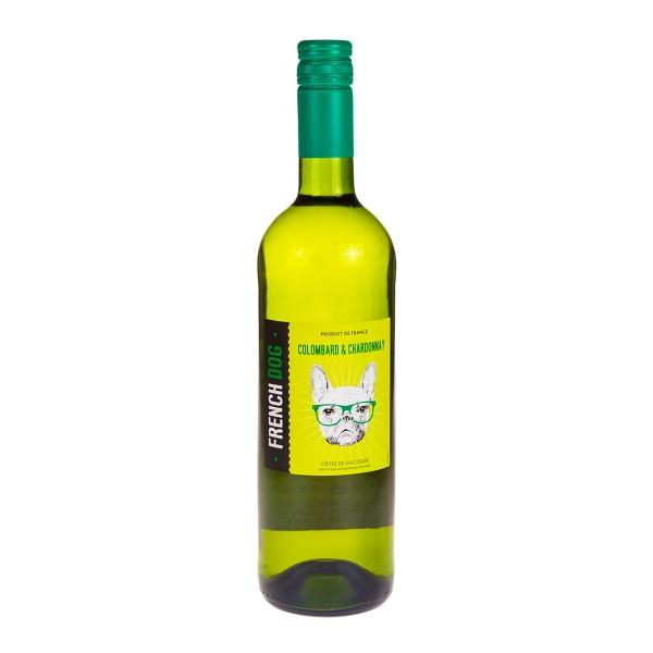 Вино белое сухое French Dog Colombard & Chardonnay 11-11,5%  0,75л