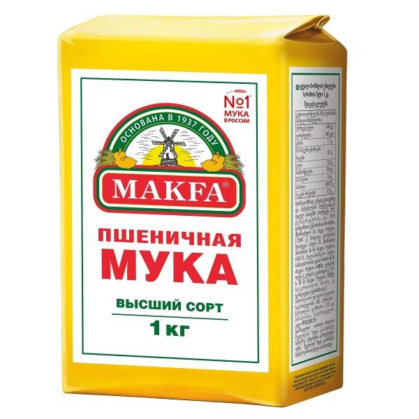 Мука пшеничная в/с Makfa 1кг