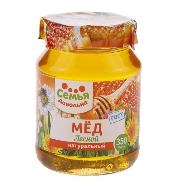 Мед натуральный Лесной Семья довольна 350гр