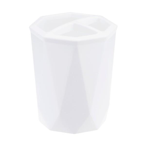 Подставка для зубных щеток Призма белый