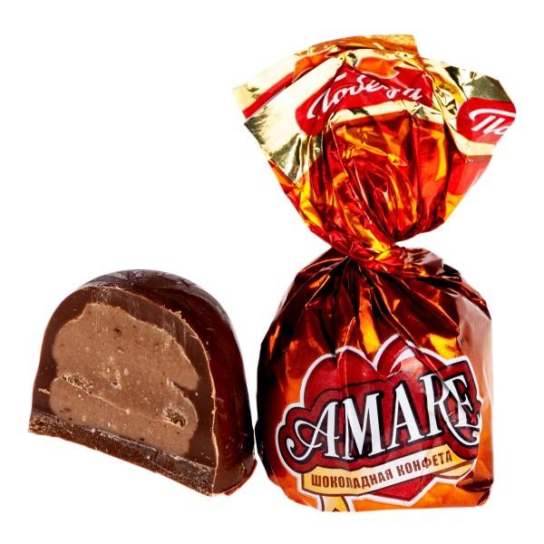 Конфеты шоколадные Amare Победа вареная сгущенка и карамельная крошка