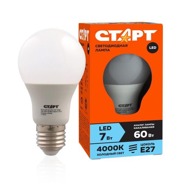 Лампа светодиодная стандарт Старт Eco Led GLS 7W-40 E27