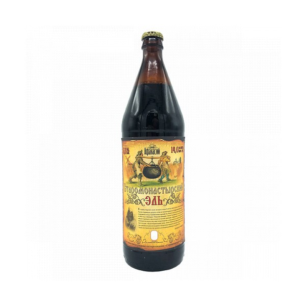 Пиво темное Старомонастырский Эль 6% 0,75л