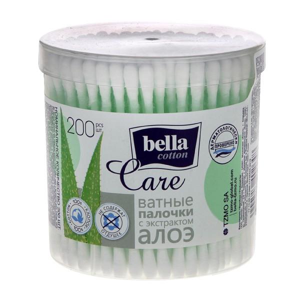Палочки ватные Bella cotton с экстрактом алоэ 200шт