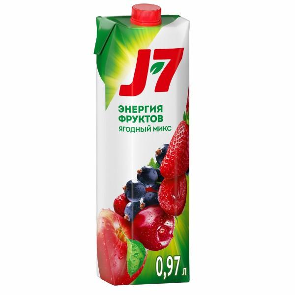 Нектар J-7 0,97л яблоко-ягоды