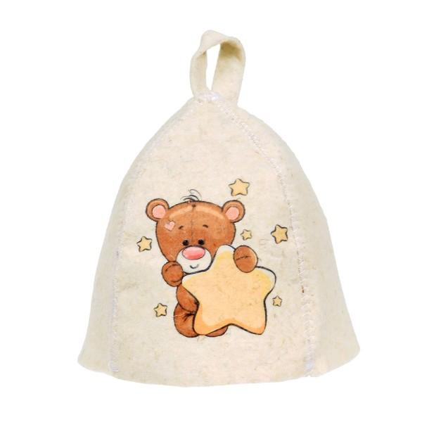 Шапка детская для бани Hot pot мишка