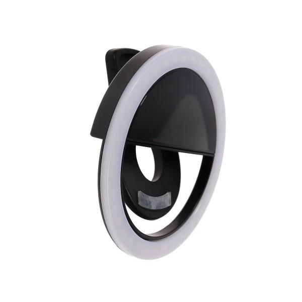 Лампа светодиодная Aks-06 кольцевая для телефона белая Luazon home