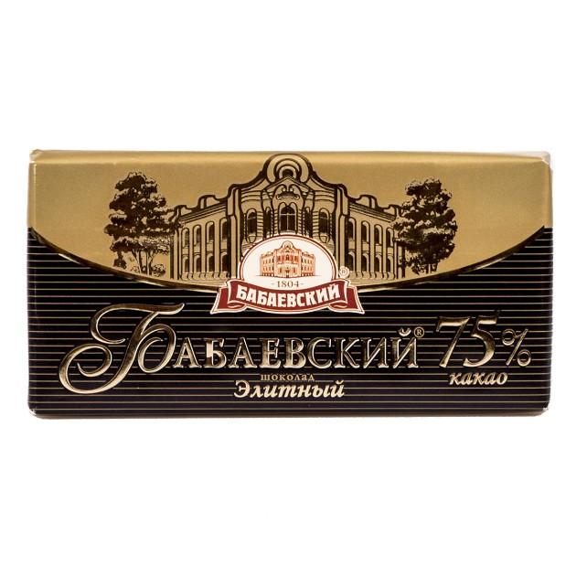 Шоколад горький Бабаевский 100гр элитный 75% какао