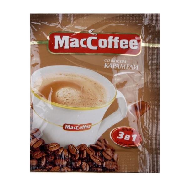 Напиток кофейный MacCoffee 3в1 18гр со вкусом карамели