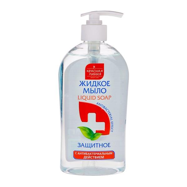 Мыло жидкое Красная линия 520мл антибактериальное