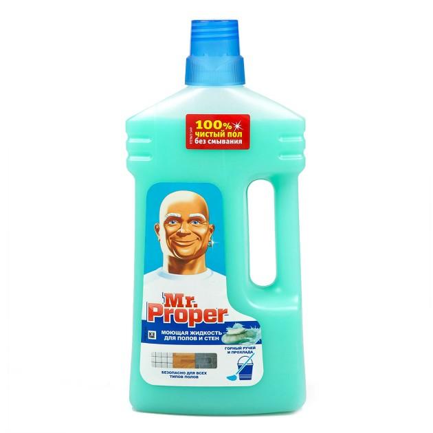 Средство для мытья полов и стен Mr.Proper Горный ручей и прохлада 1л