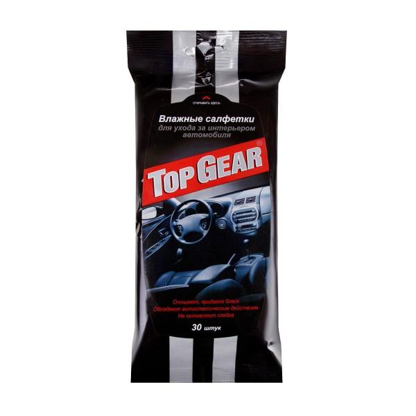 Салфетки влажные для ухода за салоном автомобиля Top Gear 30 штук
