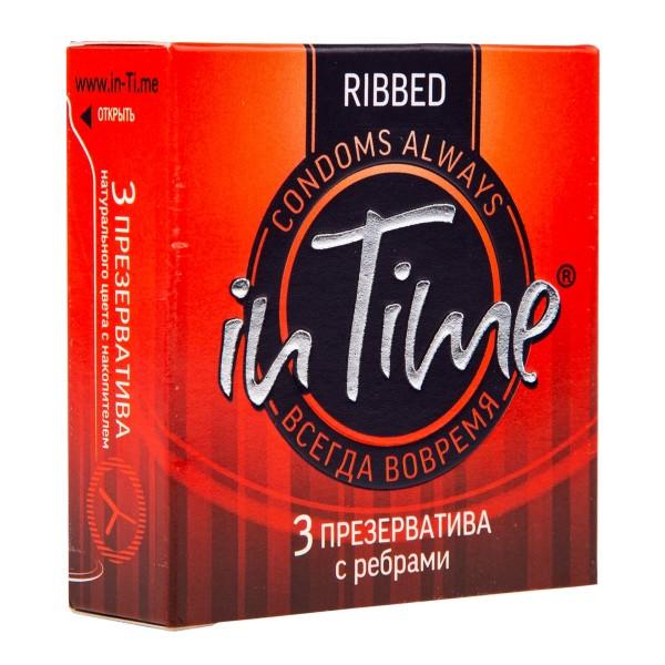 Презервативы In time С ребрами 3шт