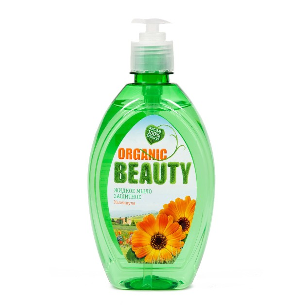 Мыло жидкое для кухни Organic beauty Защитное 500мл календула