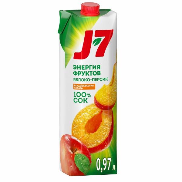 Нектар J-7 0,97л персик с мякотью