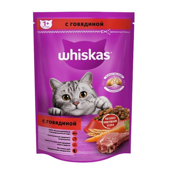Корм для кошек с нежным паштетом Аппетитное ассорти Whiskas 350гр с говядиной