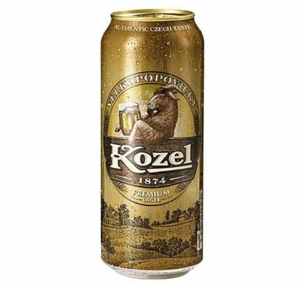 Пиво 4,6% Velkopopovicky Kozel Premium lager 0,5л