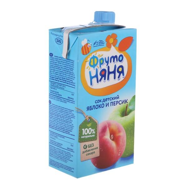 Сок детский ФрутоНяня 0,5л яблоко персик с мякотью