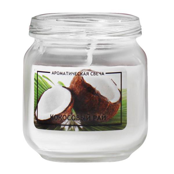 Свеча ароматическая в банке Кокосовый рай
