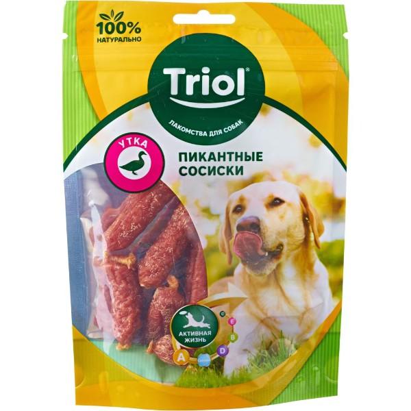 Лакомство для собак Пикантные сосиски Triol 70г утка