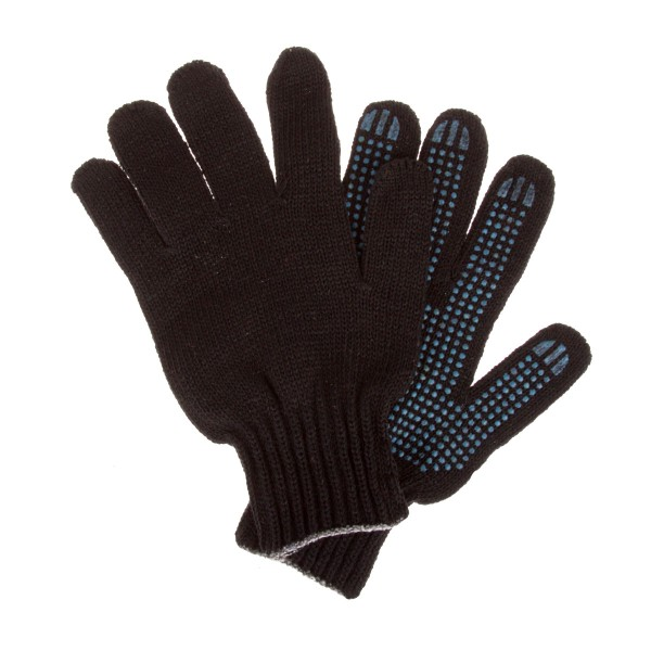 Перчатки с ПВХ двойные черные