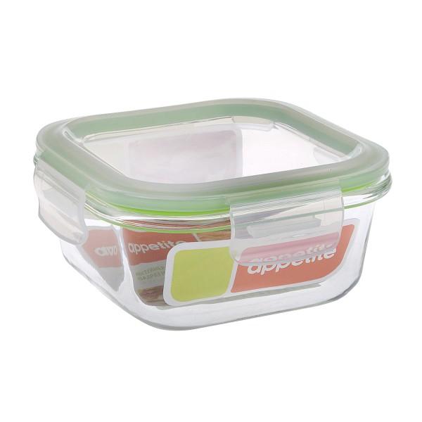 Контейнер квадратный стекло Appetite 520мл
