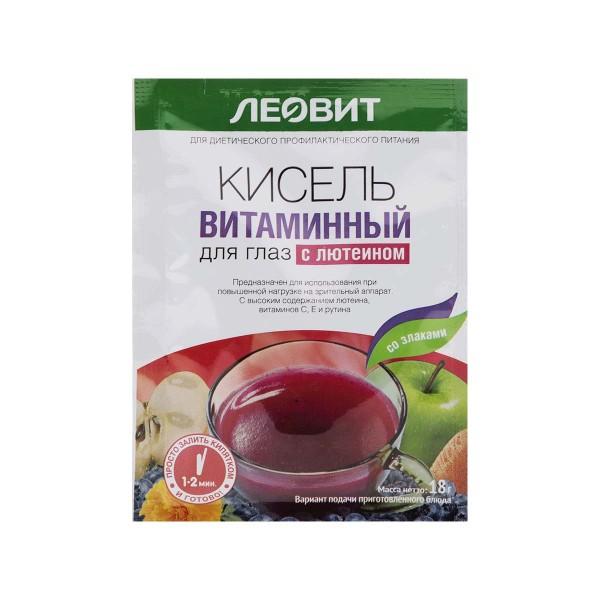Кисель Леовит 18гр витаминный для глаз с лютеином