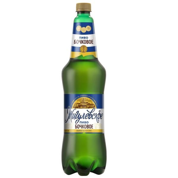 Пиво светлое пастеризованное Жигулевское бочковое 5% 1,3л