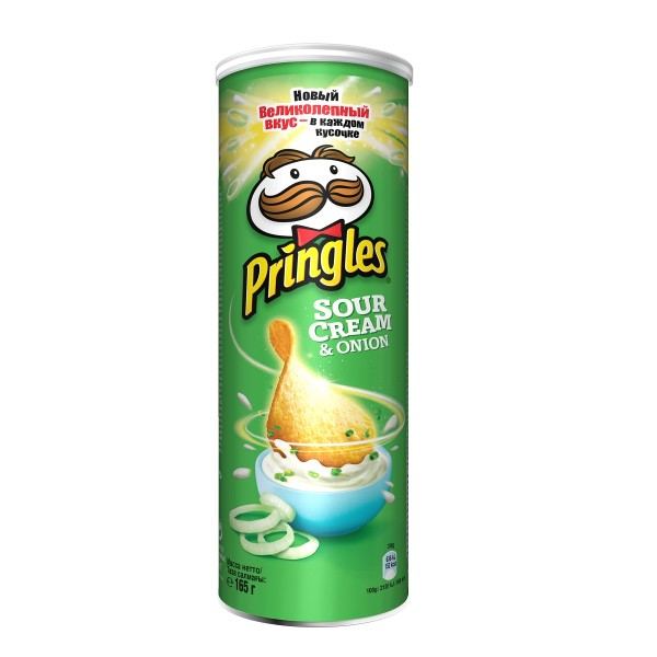 Чипсы Pringles 165гр sour cream & onion