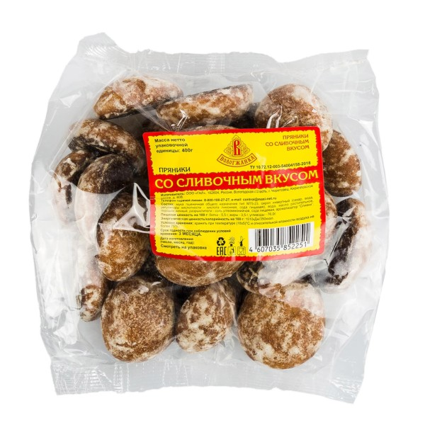Пряники Вологжанка 400гр со сливочным вкусом