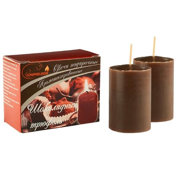 Набор свечей ароматизированных 6см шоколадный трюфель