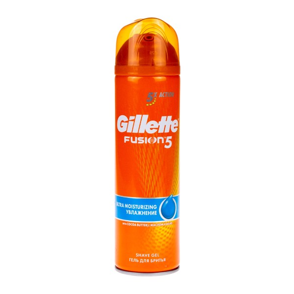 Гель для бритья Gillette Fusion увлажнение 200мл