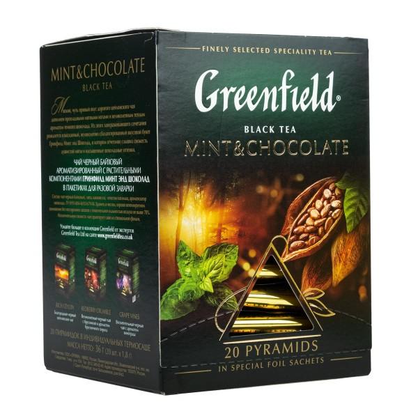 Чай черный Greenfield Mint&Chocolate 20 пирамидок