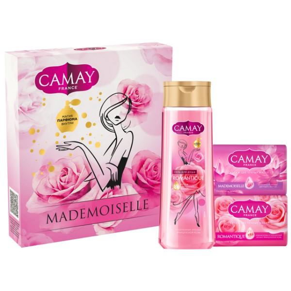 Набор подарочный Camay Mademoiselle: гель для душа и мыло 2 шт