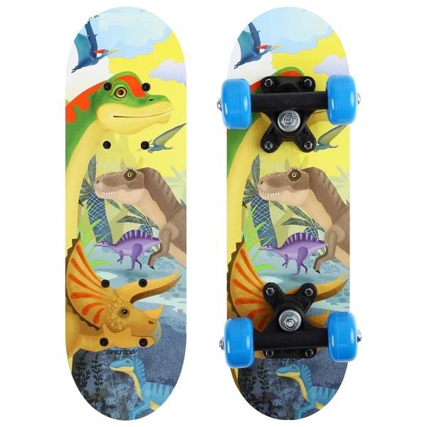 Скейтборд детский Динозавры 44х14см