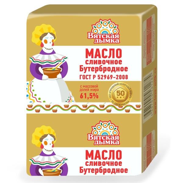 Масло сливочное Бутербродное 61,5% 180г БЗМЖ