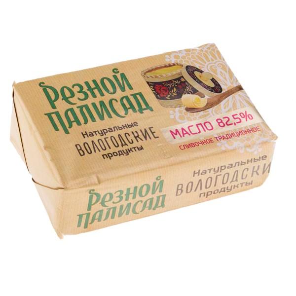 Масло сливочное Традиционное Резной палисад 82,5% 160гр БЗМЖ
